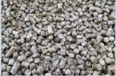 High quality pellets from pine wood from the