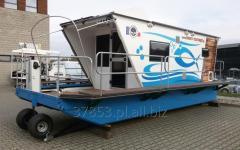 Aluminum flat-bottomed boat houseboat do LPA2.5X7