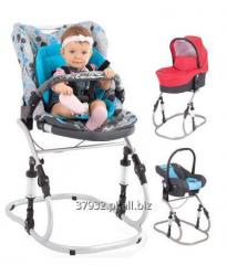 Travel feeding chairs