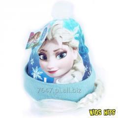 Zimowa czapka z warkoczem Frozen