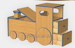 Szafka na zabawki lokomotywa