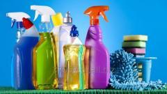 Środki czystości, proszki do prania, płyny do