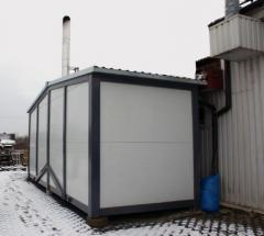 Kotłownia kontenerowa opalana paliwem stałym w postaci biomasy pochodzenia drzewnego