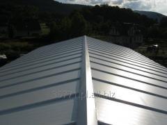 Płyta warstwowa dachowa z rdzeniem ze sztywnej pianki poliuretanowej PUR lub PIR
