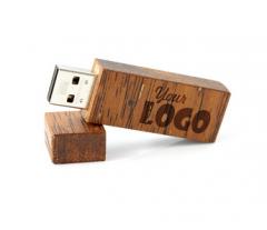 Gadżety reklamowe, upominkowe, metalowe i drewniane pendrive USB z kolorowym lub grawerowanym logo firmy .