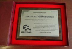 Dyplomy i certyfikaty pamiątkowe i okazjonalne grawerowane na laminacie grawerskim, rozmiar 203 x 254 i 177 x 228mm.