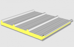 Roof panels filled with polystyrene, PU or mineral