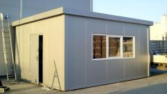 Module buildings made of sandwich panels for any