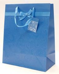 Jednokolorowe torebki prezentowe ze wstążką i
