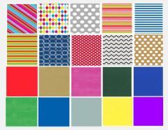 100 rolek kolorowego papieru do pakowania