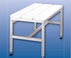 Bench for locker rooms with steps from
