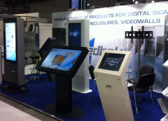Custom-made kiosks with touch screens
