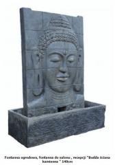 """Fontanna ogrodowa, fontanna do salonu , recepcji """"Budda ściana kamienna """" 140 cm"""