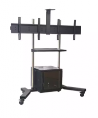Conference LED monitors stands on wheels
