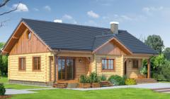 Domy mieszkalne wykonane z sosnowego bala