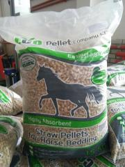 We sell pellets 8mm with barley and wheat straw as