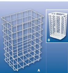 The basket is made ​​ of stainless steel or