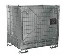 Pojemniki siatkowe z drutu stalowego z elementami