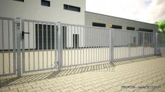 Fence made of galvanized steel