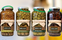 Traditionally manufactured Spanish olives, black