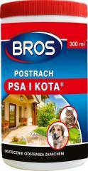 Bros odstrasza krety, psy i koty