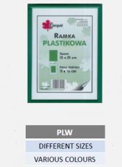 Plastic photo frames PLW,  different sizes,