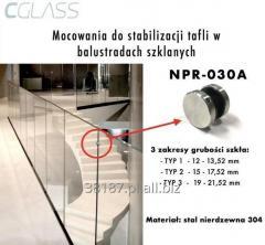 Mocowania do stabilizacji tafli w balustradach szklanych
