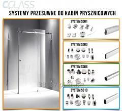 Sliding shower stall