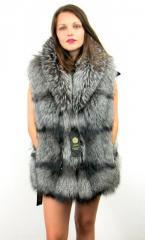 Articles made of natural fur