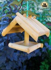 Drewniany karmnik dla ptaków
