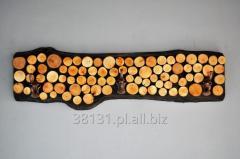 Wieszak deska plastry drewna
