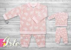 Dres dziewczęcy różowy 100% bawełna