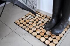 Wycieraczka eco plastry drewna