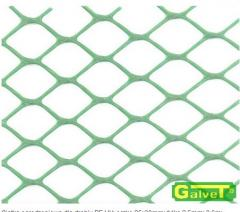 Plastic mesh for fencing
