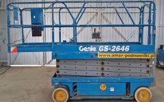 Używany podnośnik nożycowy elektryczny  GENIE GS 2646