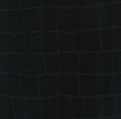 Textiles, leather, black leatherette upholstery is