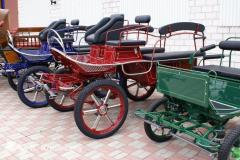 Two-horse light carriages
