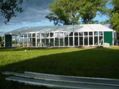 Przeszklone namioty bankietowe, weselne, ekspozycyjne, gastronomiczne do szybkiego montażu i demontażu.