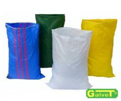 Sacks, polyethylene, plastic, rubber