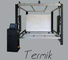 Machines for figural cutting of foam plastic