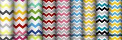 Tkaniny drobno drukowane- kolorowe szewrony
