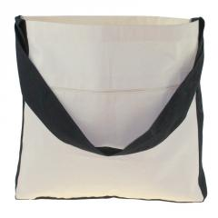 Cotton bag with one ear - 450x60x400mm Handle:
