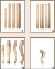 Produkcja nóg z drewna do stołów, ław, krzeseł, mebli.