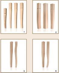 Drewniane nogi do mebli typu krzesło, stół, sofa, szafa i inne.