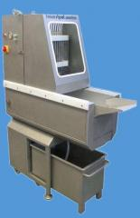 Injectors for extrusion of meat with brine by