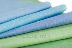Tkanina koszulowa lniana domieszka z bawełną