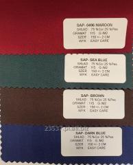 Tkanina koszulowa TC  skład 35 % Co / 65 % Pes różne kolory