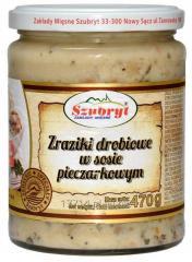 Zraziki drobiowe w sosie pieczarkowym [470g]