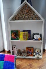 Domek dla lalek drewniany strych