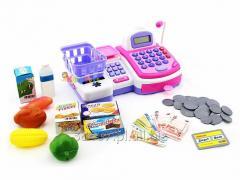 Kasa Sklepowa Fiskalna z Taśmą i Kalkulatorem Mikrofon Dla Dzieci